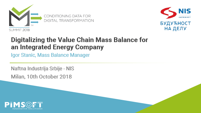 Digitalizing the Value Chain Mass Balance for an Integrated Energy Company