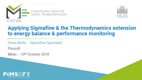 Applying Sigmafine & Thermodynamics Extension for Energy Balance & Performance Monitoring – Milan