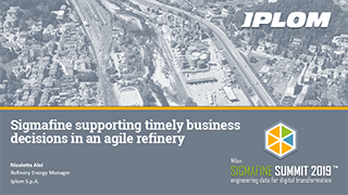 Iplom - Supporting timely business decisions in an Agile Refinery with Sigmafine