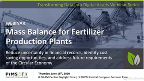 WEBINAR: Mass Balance for Fertilizer Production Plants